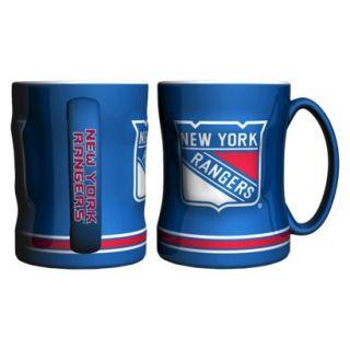 Boelter Brands NHL 2 Pack New York Rangers Sculpted Coffee Mug   Blue (14 oz)