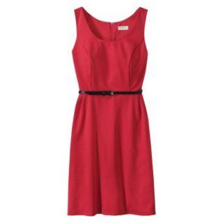 Merona Petites Sleeveless Fitted Dress   Red XXLP