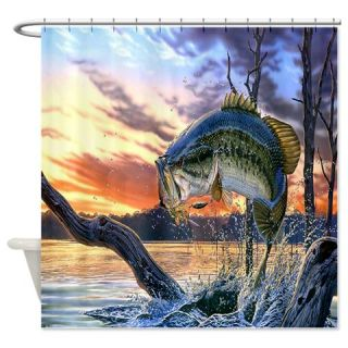 Fish Shower Curtain Use Code FREECART At Checkout Black Bass