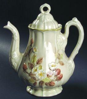 Metlox   Poppytrail   Vernon Autumn Berry Coffee Pot & Lid, Fine China Dinnerwar