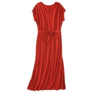 Merona Womens Plus Size Short Sleeve V Neck Maxi Dress   Orange 2