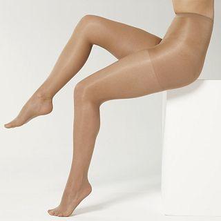 Sheer Caress Pantyhose, Support Control Top 3 Pk, Bone, Womens