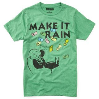 Make It Rain Mens Tee, Shamrock Heather