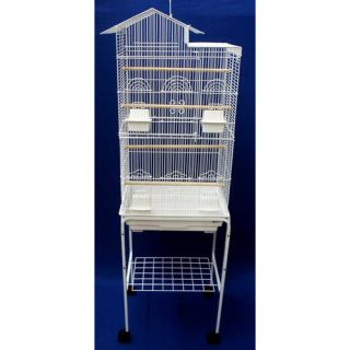 YML Villa Top Small Bird Cage with Stand and 4 Feeder Doors 6894_4814 Color