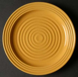 Home Trends Hts16 Salad Plate, Fine China Dinnerware   All Yellow, Embossed Ring