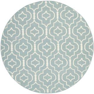 Safavieh Dhurries Light Blue/Ivory Rug DHU637C Rug Size: Round 6