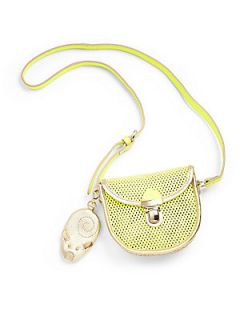 Little Marc Jacobs Girls Perforated Leather Bag & Mouse Coin Purse Keychain   N