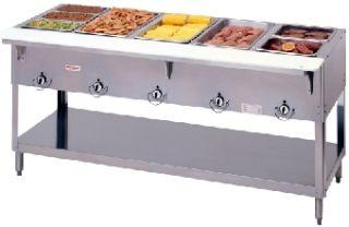 Duke Aerohot Steamtable Hot Food Unit, 5 Wells & Carving Board, NG