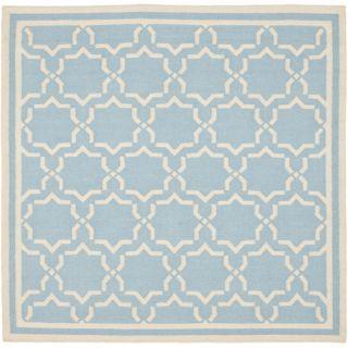 Safavieh Dhurries Light Blue/Ivory Rug DHU545B Rug Size: Square 6