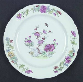 Spode Willis (Y2684) Dinner Plate, Fine China Dinnerware   New Stone, Indian Tre