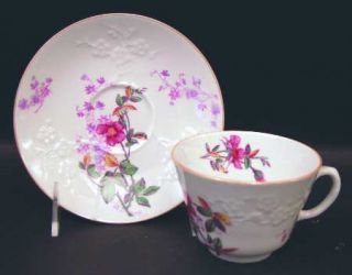 Spode Roberta Orange (Smooth) Footed Cup & Saucer Set, Fine China Dinnerware   P