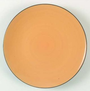 Thomson Kata Dinner Plate, Fine China Dinnerware   Black Out,Yellow In,Coupe,Smo