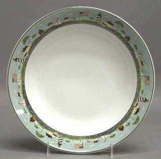 Sakura Coastal Breeze Soup/Cereal Bowl, Fine China Dinnerware   Warren Kimble,Li