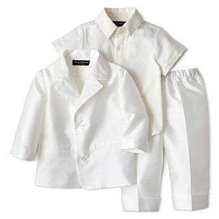 WENDY BELLISSIMO Wendy Bellissimo 3 pc. Jacket Set   Boys 3m 9m, Cream, Cream,