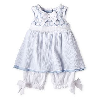 Wendy Bellissimo 2 pc. Top and Bloomers Set   Girls newborn 9m, White, Girls
