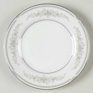 Royal M Mita Joyce Bread & Butter Plate, Fine China Dinnerware   Blue Flowers, G