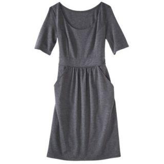 Merona Womens Ponte Elbow Sleeve Dress w/Pockets   Heather Gray   XXL