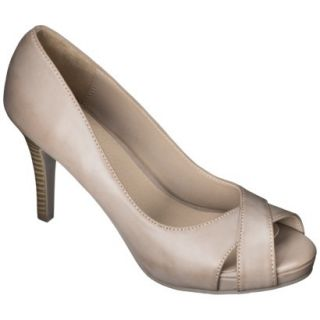 Womens Xhilaration Angela Peep Toe Pump   Blush 7.5