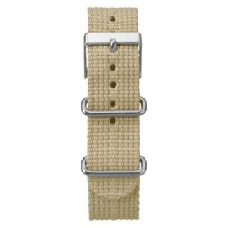 Timex Weekender Solid Canvas Replacement Strap   Khaki