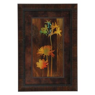 Crestview Collection Multi   Colored Flowers Framed Wall Art   25.5W x 37.5H in.