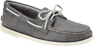 Mens Sperry Top Sider A/O 2 Eye Washed   Grey Full Grain Leather Sailing Shoes