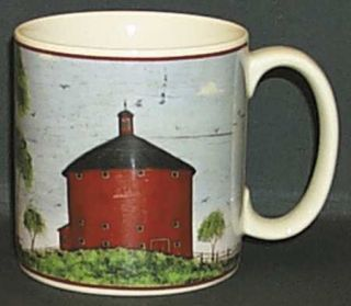 Sakura Barns Mug Fine China Dinnerware Warren KimbleRed Board RimCream & Sakura Barns Mug Fine China Dinnerware Warren KimbleRed Board Rim ...