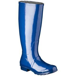 Womens Classic Knee High Rain Boot   Marine Blue 10