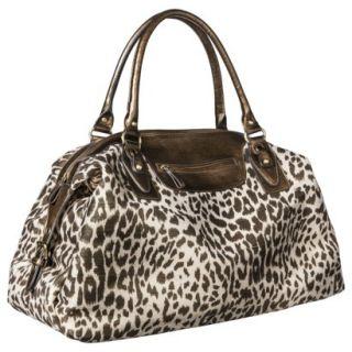 Bueno Cheetah Print Weekender Tote Handbag   Brown