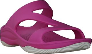 Womens Dawgs Z Sandal/Rubber Sole   Hot Pink/White Casual Shoes