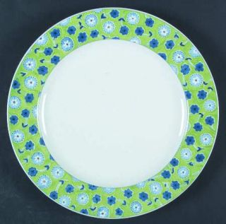 Studio Nova Cote DAzur   Green Dinner Plate, Fine China Dinnerware   Blue Flowe