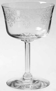 Fostoria Poetry Champagne/Tall Sherbet   Stem #6123, Etch #32, Clear, No Trim