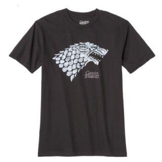 Mens Game of Thrones Stark Wolf Tee Shirt   Black M