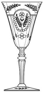 Seneca Cut 930 Water Goblet   Stem#484, Cut#930,  Optic,Flowers,Swags