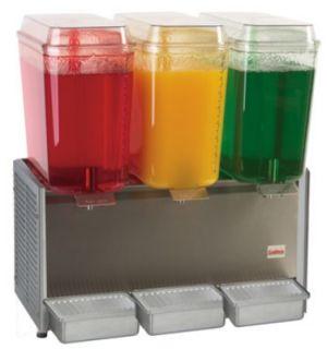 Grindmaster   Cecilware Cold Beverage Dispenser For Premix, (3) 5 Gallon, Stainless, 120 V