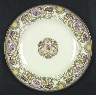 Morgan Belleek (USA) Victoria Dinner Plate, Fine China Dinnerware   Roses & Frui
