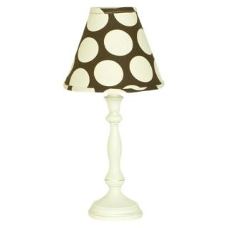 Cotton Tale Raspberry Dot Lamp & Shade