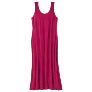 Merona Womens Plus Size Sleeveless V Neck Maxi Dress   Red 3