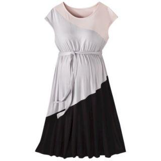 Liz Lange for Target Maternity Short Sleeve Colorblock Dress   Pink/Gray/Black L