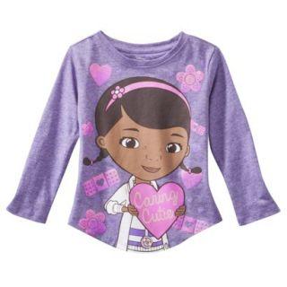 Disney Infant Toddler Girls Doc McStuffins Long sleeve Tee   Purple 18 M