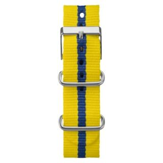 Timex Weekender Fullsize Slip Through Replacement Strap   Yellow/Blue