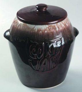 Nelson McCoy Brown Drip Cookie Jar W/Lid, Fine China Dinnerware   Dark Brown Dri