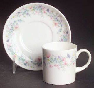 Wedgwood Angela Can Shape Demitasse Cup and Saucer Set, Fine China Dinnerware