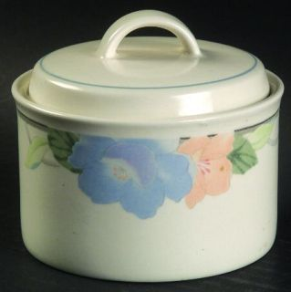 Mikasa Garden Poetry Sugar Bowl & Lid, Fine China Dinnerware   Intaglio Line, Pa
