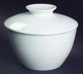 Noritake Angela White Sugar Bowl & Lid, Fine China Dinnerware   Cook N Serve, Al