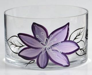 Laurie Gates Anna Plum Glassware Individual Salad Bowl, Fine China Dinnerware