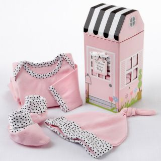 Baby Aspen Welcome Home Baby 3 Piece Pink Layette Set with Optional