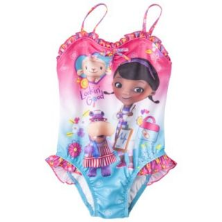 Doc McStuffins Toddler Girls 1 Piece Swimsuit   Pink 2T