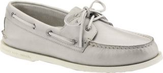 Mens Sperry Top Sider A/O 2 Eye Free Time   Grey Full Grain Leather Sailing Sho