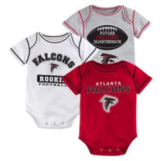 NFL Boys 3 Pack Onesie Falcons 3 6 M