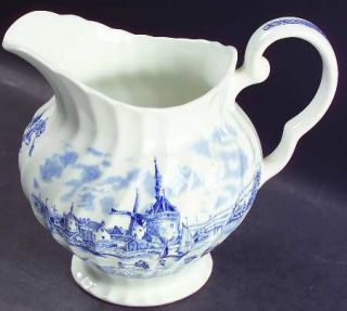 Johnson Brothers Tulip Time Blue (White Background) 20 Oz Pitcher, Fine China Di